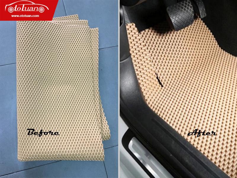 thảm lót sàn ô tô 4D cuộn