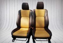 Bọc ghế da xe Hilux vàng nâu