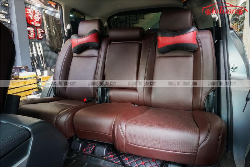 Bọc nệm ghế da ô tô màu nâu cho xe Mazda CX9