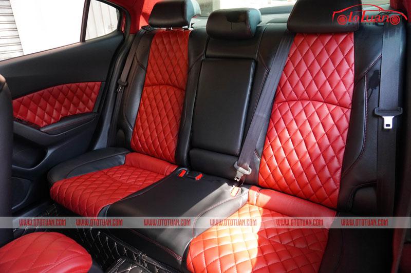 Bọc ghế da băng sau xe Mazda 3