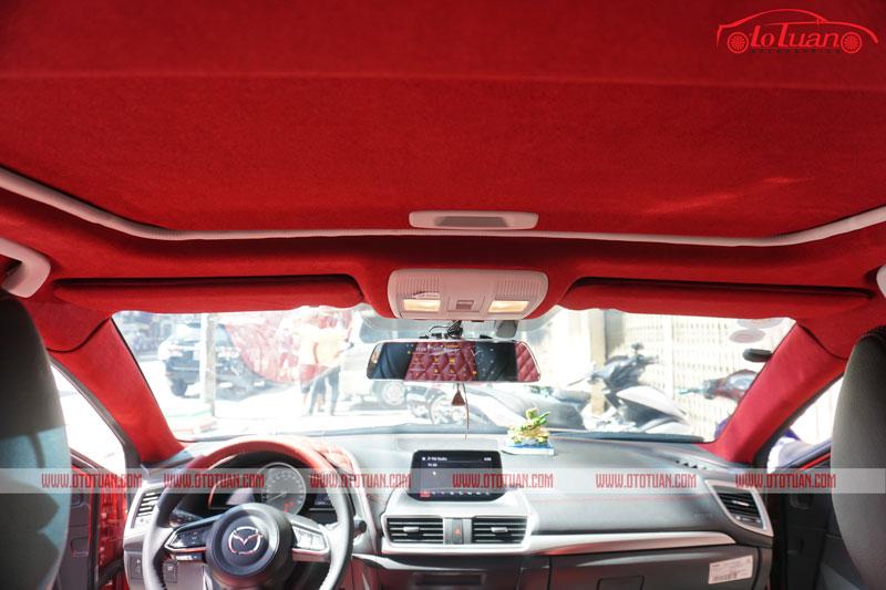 Bọc trần da lộn xe Mazda 3