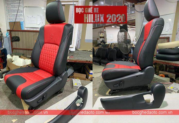 Boc ghế da xe toyota hilux 2020