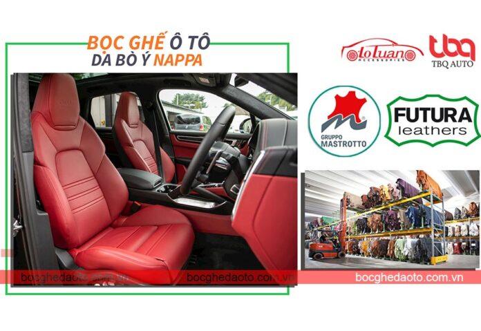 Bọc ghế da ô tô da bò thật xuất xứ Ý